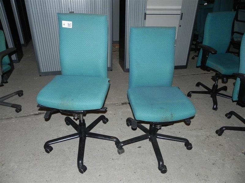 Ca. 12x bureaustoel sitag met en zonder armleuningen
