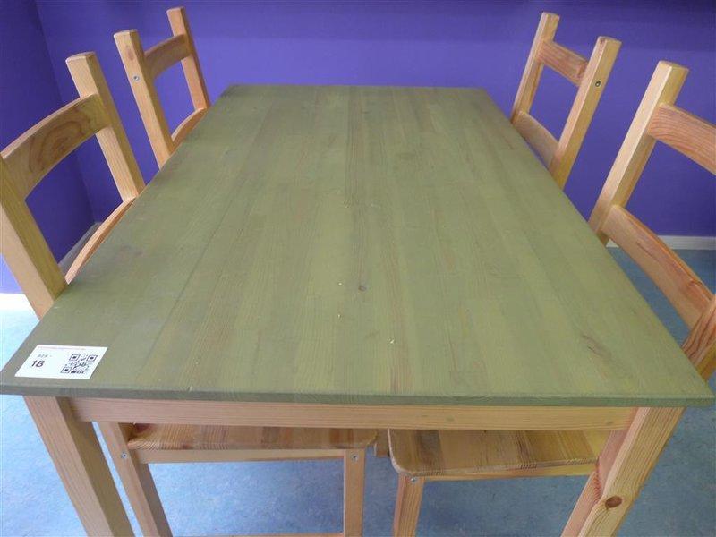 Eetkamer tafel, inclusief 4x stoel, afmeting tafel hxbxd ca ...
